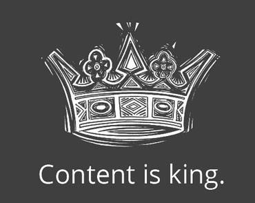content is king Launching a New Site